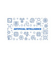 artificial intelligence blue linear vector image vector image