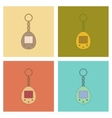 assembly flat icons Kids toy retro electric vector image vector image