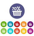 basket seventy percent discount icon simple style vector image
