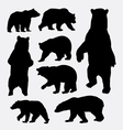 Bear wild animal silhouettes vector image vector image