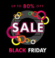 black friday sale banner circle colored background vector image