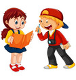 boy and girl children character vector image