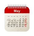 calendar 2015 - may vector image vector image