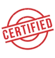 Certified rubber stamp vector image vector image