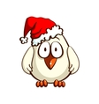 Chick In Santas Hat vector image vector image