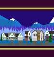 christmas houses panorama vector image