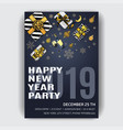 christmas party invitation design template vector image vector image