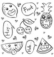 collection stock fruit hand draw doodles vector image vector image