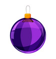colour christmas violet ball isolated on white vector image vector image