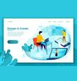 concept motion design studio work process vector image