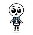 cute kawaii boy skeleton isolated halloween vector image vector image