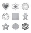 design of biscuit and bake symbol set of vector image