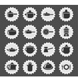 dishes icon set vector image vector image