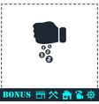 donation icon flat vector image