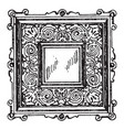 door-panel frame was a square vintage engraving vector image vector image