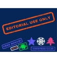 Editorial Use Only Rubber Stamp vector image vector image