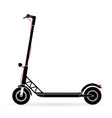 electric scooter with battery in the platform vector image vector image