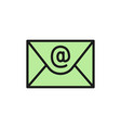 email internet message flat color icon vector image