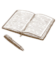 engraving notebook vector image
