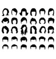 female and male hairstyles vector image vector image