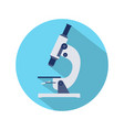 flat design of microscope icon vector image vector image