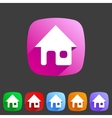 Flat icon home vector image vector image