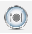 Food and Drink Glossy Icon vector image vector image