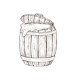 hand drawn barrel vector image