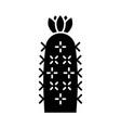 hedgehog cactus glyph icon vector image vector image