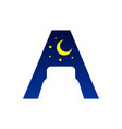 initial letter a bed negative space symbol design vector image vector image