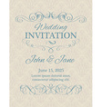 Invitation with calligraphy design elements in
