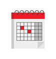 isometric calendar icon vector image vector image
