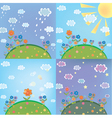 landscape weather vector image vector image