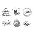 lettering inscription to winter holiday design vector image