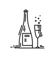 line icon champagne birthday party celebration vector image