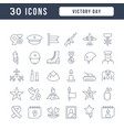 line icons victory day vector image vector image