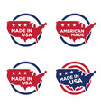 made in america label set 05 vector image vector image