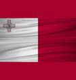 malta flag flag of malta blowig in the wind eps vector image vector image