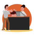 man buys clothing in clothing shop vector image vector image