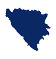map bosnia and herzegovina in blue colour vector image vector image