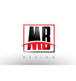 mb m b logo letters with red and black colors and vector image vector image