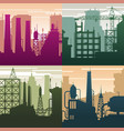 modern industrial landscapes buildings vector image vector image