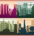 modern industrial landscapes buildings vector image