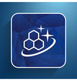 Molecule Icon isolated glossy shiny atom vector image vector image