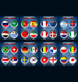 national flag soccer group vector image