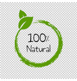 natural product text isolated transparent vector image vector image