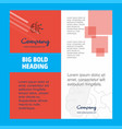 neurons company brochure title page design vector image
