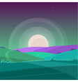 Night Cartoon Landscape vector image