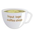 Realistically drawn mug for you pr vector image