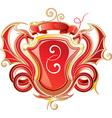 Red Heraldry Design vector image vector image